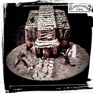 Haunted House tiny cake