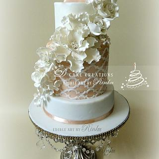 Floral Engagement Cake with a Ring Box