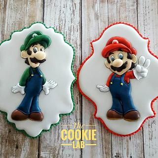 Super Mario Cookies to Little Connor! - Cake by The Cookie Lab  by Marta Torres