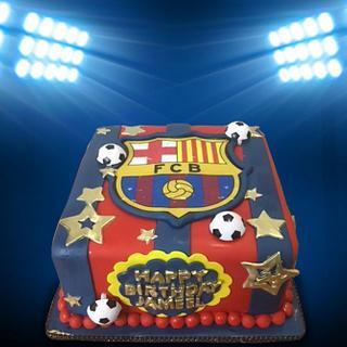 FCB Square Cake