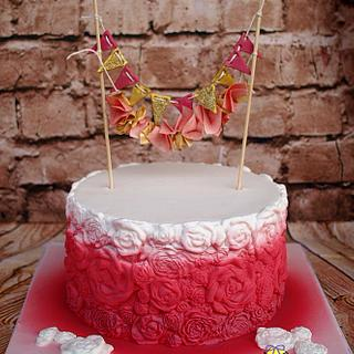 Pink and glitter - Cake by M&G Cakes