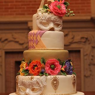 15 Years old Venetian Mask Birthday Cake - Cake by Dalila Cabrita