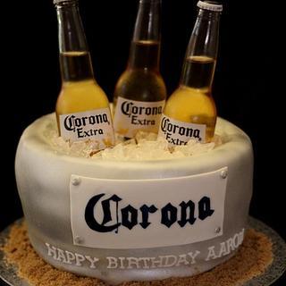 Corona Beer bucket cake - Cake by Jewell Coleman