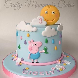 George Pig & his Dinosaur - Cake by CraftyMummysCakes (Tracy-Anne)