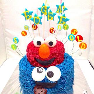 Cookies Monster and Elmo Cake