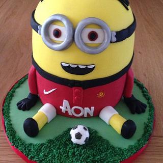 Manchester United fan Minion Dave