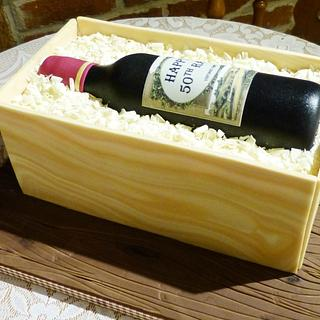 Wine in a box crate cake - Cake by Angel Cake Design