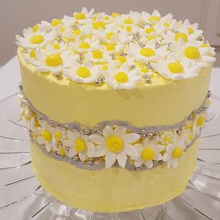 Daisy Fault Line Cake