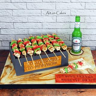Barbeque cake...