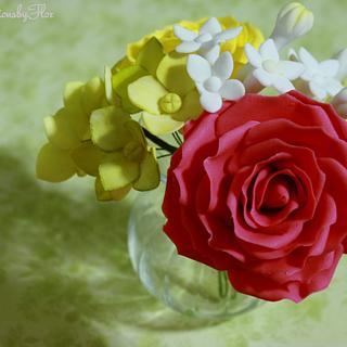 Sugar Flowers Ranunculus/Roses/Filler flowers