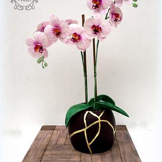 Orchid Pot - Cake by Nessie - The Cake Witch