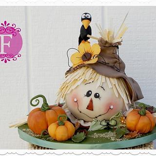 Scarecrow Fall Cake