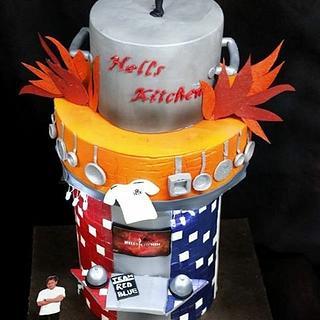 Caker buddies collaboration: Sitcom theme: Hell's Kitchen