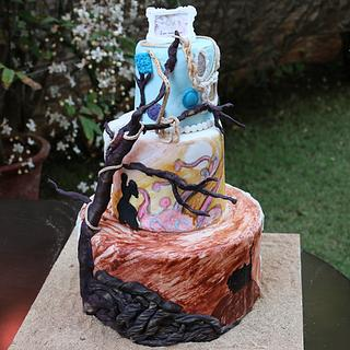 Wuthering Heights.... a Valentine's cake - Cake by Gwen Lobo