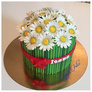 Bouquet of chrysanthemums cake