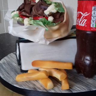 Coke and kebab cake