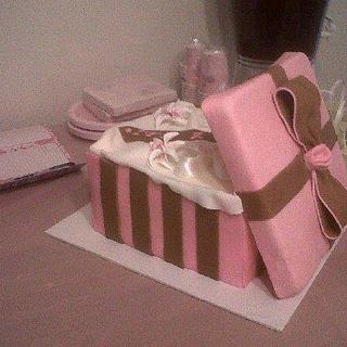 Gift Box Baby Shower Cake - Cake by Sharon Cooper