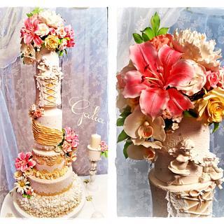 A large wedding cake :-) - Cake by Galya's Art