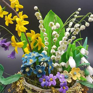 Spring flowers - Cake by Ozi