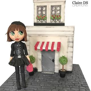 Shopping girl in Paris for cake masters magazine