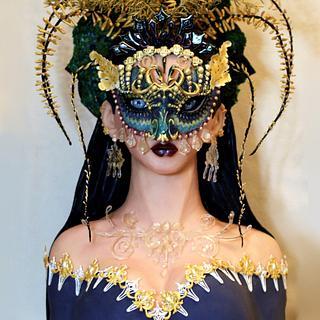 Sugar Myths & Fantasies Global Edition Collaboration: Black Masquerade - Cake by Cake Angel by Marisa Kemp