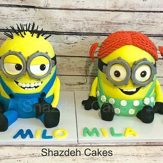 Twins Minion Cake