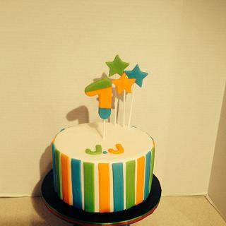 Blue, Green and Orange 1st Birthday