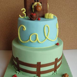 Horse-Themed Birthday Cake