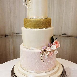 Chloe Wedding Cake. - Cake by Noreen@ Box Hill Bespoke Cakes