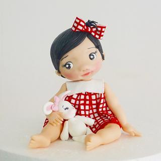 Baby girl  - Cake by Betsy Vergara Pitot