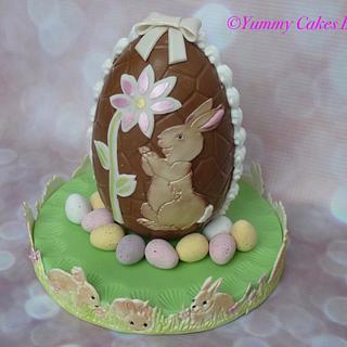 Easter Egg - Cake by YummyCakesBySue