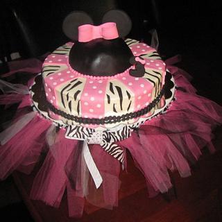 Minnie Mouse/Zebra Print Cake