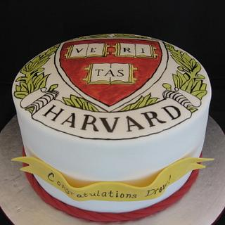 Harvard graduation cake - Cake by memphiscopswife