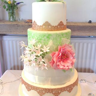 Mint and blush pink vintage wedding - July 2015