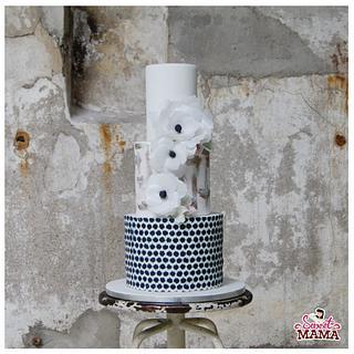 Wafer Paper Anemona Wedding Cake - Cake by Soraya Sweetmama