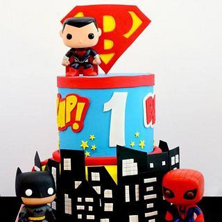 Super Hero Themed Cake