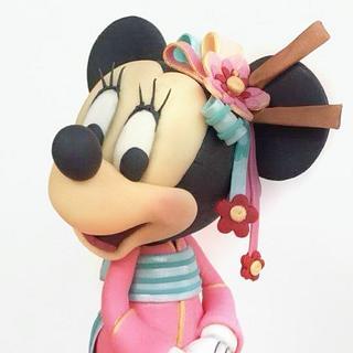 Japanese Geisha Minnie Mouse
