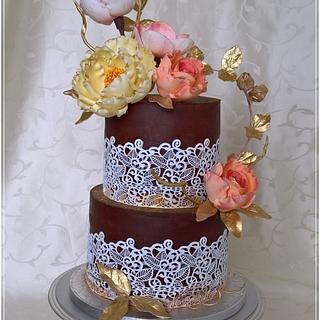 Flowers cake & ganache