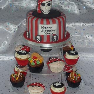 Arrrghhhh Pirate Theme Birthday Cake