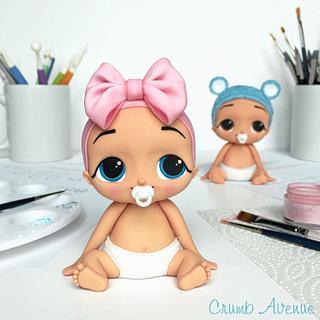 Cute Baby Cake Topper