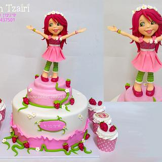 strawberry shortcake and cupcakes - Cake by sharon tzairi - cakes-mania
