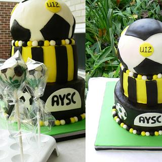 Stingers Soccer Team Cake