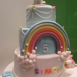 Simple unicorne towercake