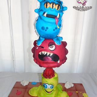 SWEET MONSTERS cake