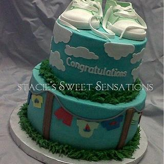 sneaker baby shower - Cake by Naturepixie