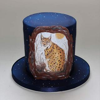 Lynx Birthday Cake