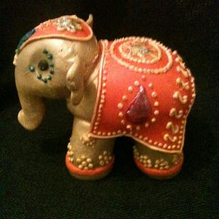 Indian style elephant cake topper