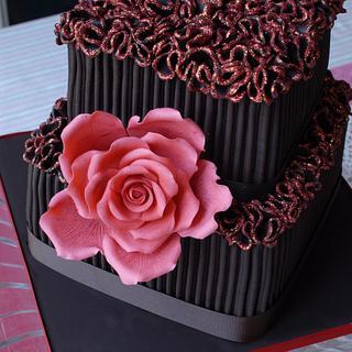 Chocolate ganache birthday cake for my friend Alan :)