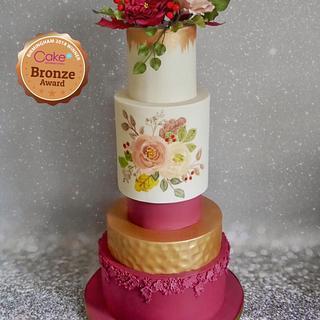 My CI wedding cake entry - Cake by Daisychain's Cakes