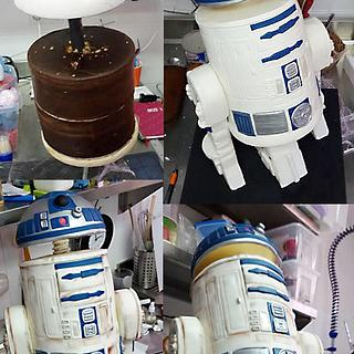 R2D2 structure cake Star Wars